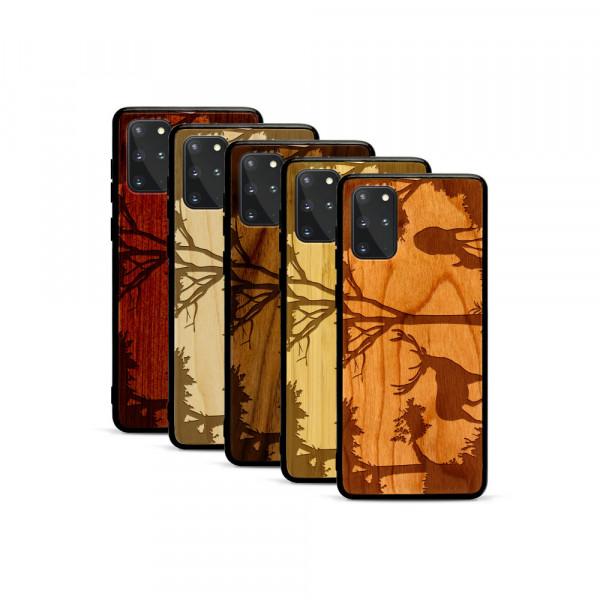 Galaxy S20+ Hülle Wildlife Hirsch aus Holz