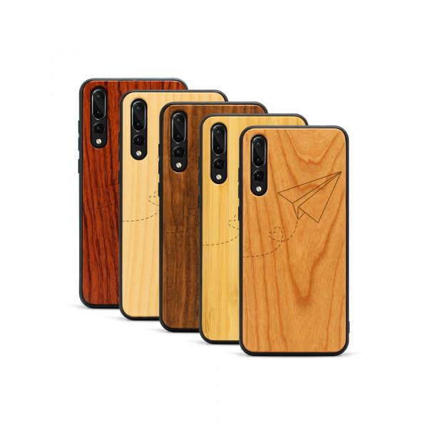 P20 Pro Hülle Paper Plane aus Holz
