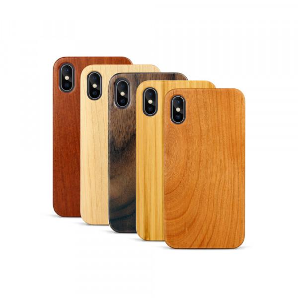iPhone X & Xs Hülle aus Holz ohne Gravur