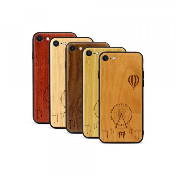 iPhone 8 & SE Hülle Jahrmarkt aus Holz