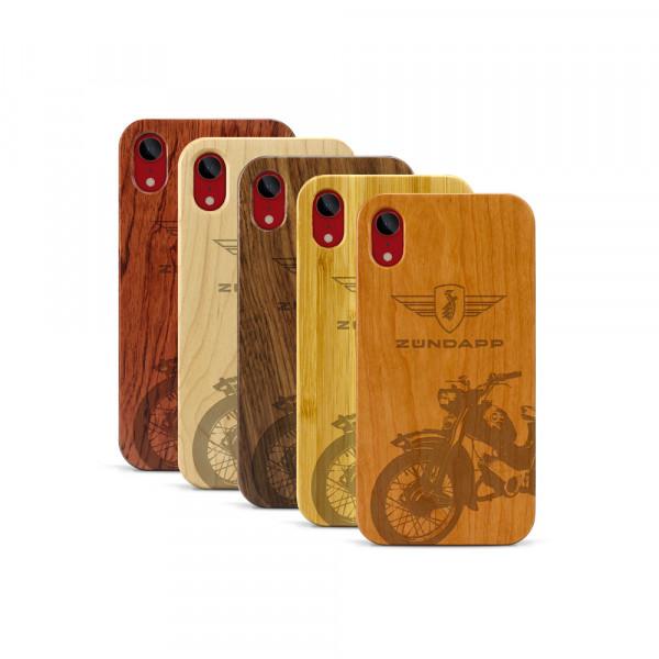 iPhone XR Hülle Zündapp C 50 Super aus Holz