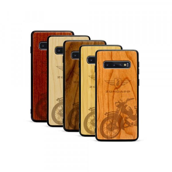 Galaxy S10+ Hülle Zündapp C 50 Super aus Holz