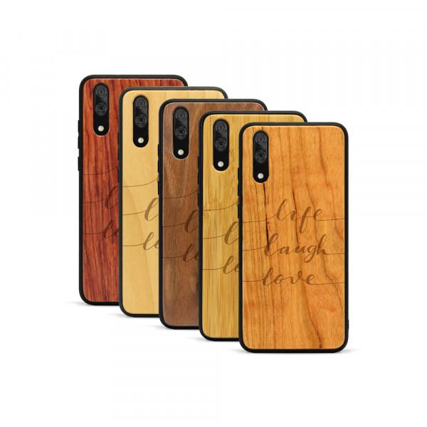 P20 Hülle Life Laugh Love aus Holz