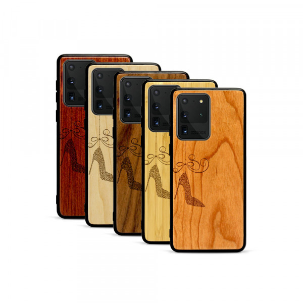 Galaxy S20 Ultra Hülle Hanging Stiletto aus Holz