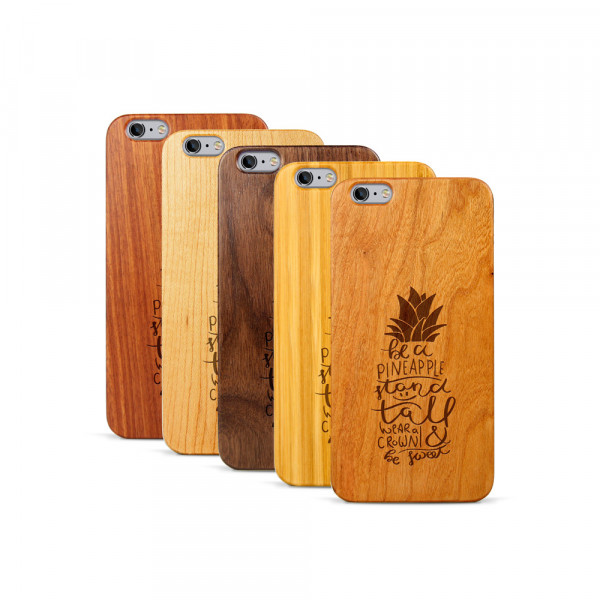 iPhone 6 & 6S Plus Hülle Be a Pineapple aus Holz