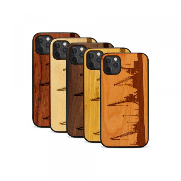 iPhone 11 Pro Hülle Industriedesign Kran aus Holz