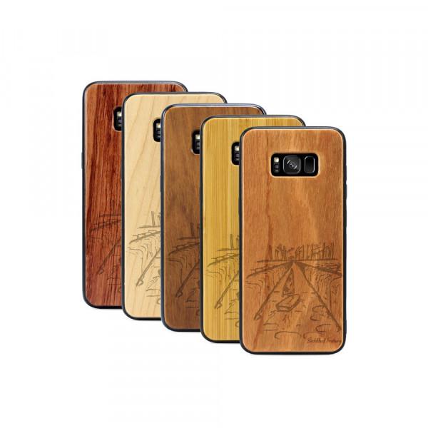 Galaxy S8+ Hülle Freiburg Bächleboot aus Holz