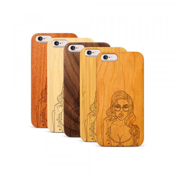 iPhone 6 & 6S Hülle Lolli Pop Art aus Holz