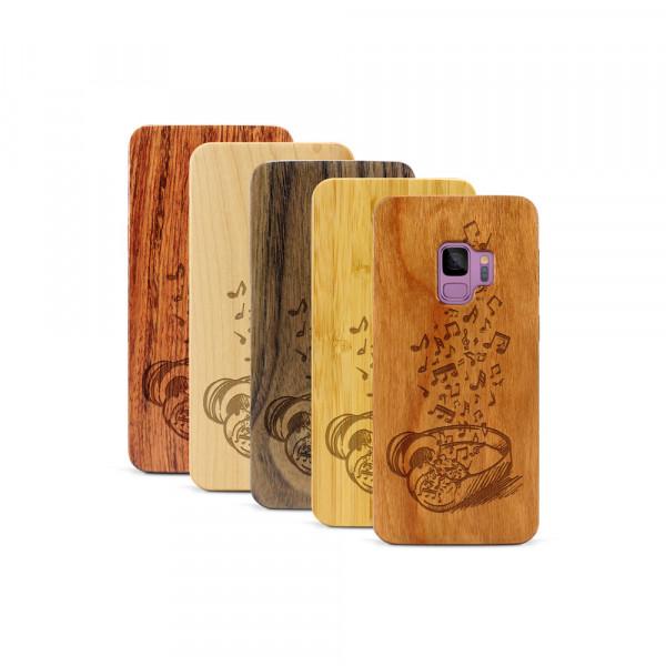 Galaxy S9 Hülle Headphones aus Holz