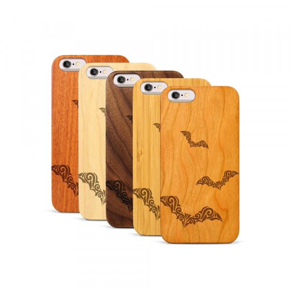 iPhone 6 & 6S Hülle Fledermaus Ornamente aus Holz