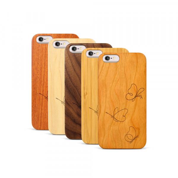 iPhone 6 & 6S Hülle Butterflies aus Holz