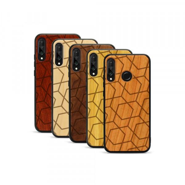 P30 lite Hülle Big Pattern aus Holz