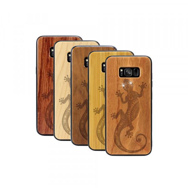 Galaxy S8+ Hülle Gecko Swarovski® Kristalle aus Holz