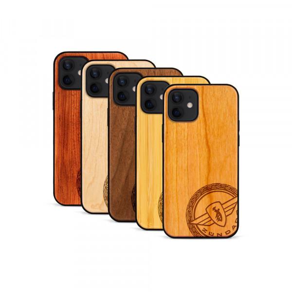 iPhone 12 Mini Hülle Zündapp Logo Klassik aus Holz
