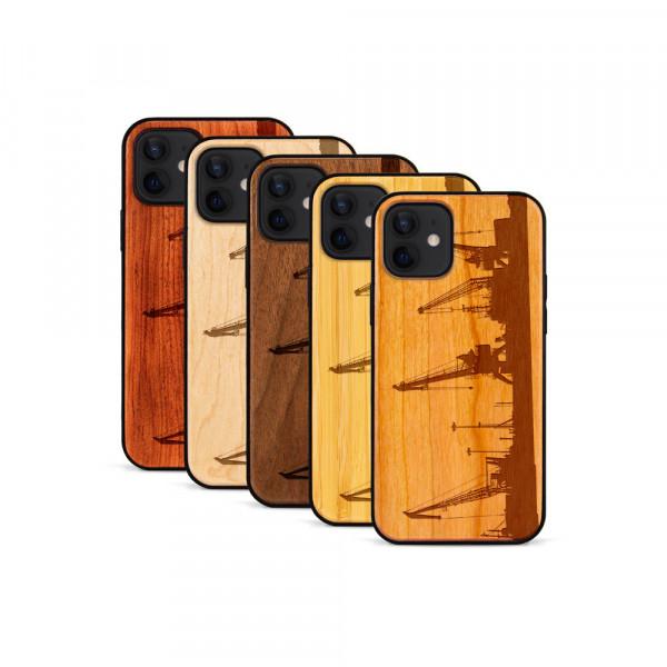 iPhone 12 Mini Hülle Industriedesign Kran aus Holz