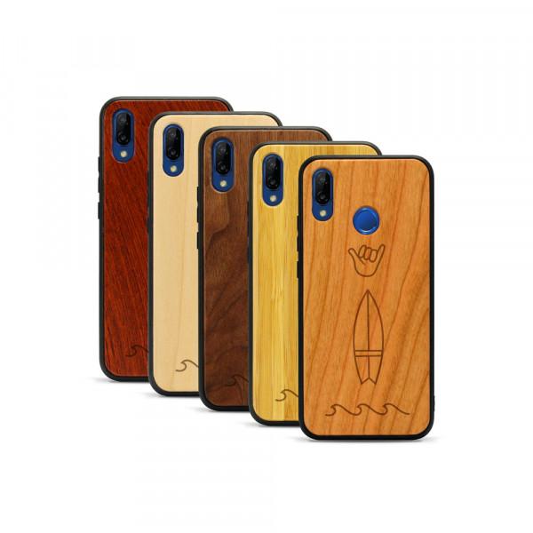 P20 lite Hülle Surf Icons aus Holz
