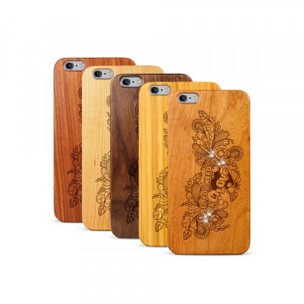 iPhone 6 & 6S Plus Hülle All you need Swarovski® Kristalle aus Holz
