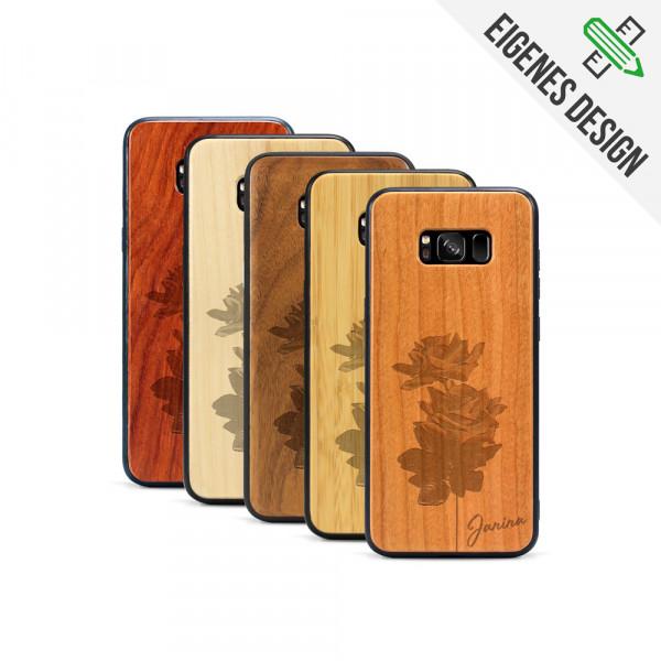 Galaxy S8+ Hülle aus Holz selber gestalten mit individueller Gravur