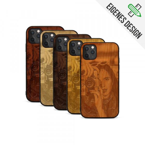 iPhone 11 Pro Max Hülle aus Holz selber gestalten mit individueller Gravur