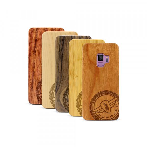 Galaxy S9 Hülle Zündapp Logo Klassik aus Holz