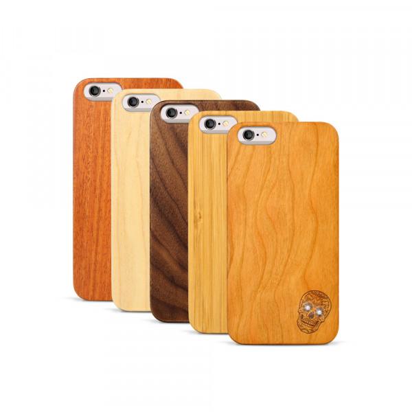 iPhone 6 & 6S Hülle Totenkopf Swarovski® Kristalle aus Holz