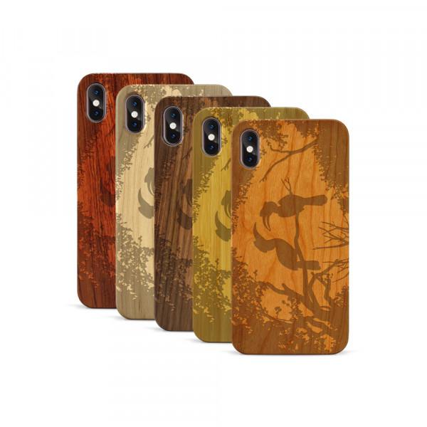 iPhone XS Max Hülle Wildlife Paradiesvögel aus Holz