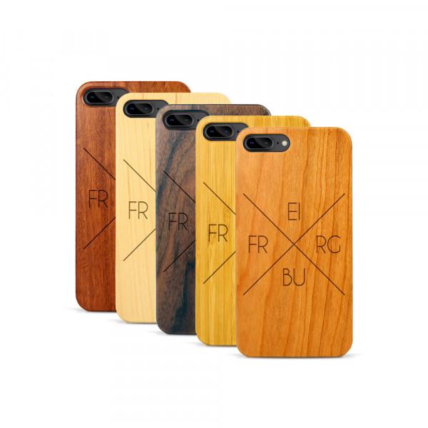 iPhone 7 & 8 Plus Hülle Freiburg X-Cross aus Holz