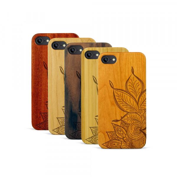 iPhone 7 Hülle Mandala aus Holz