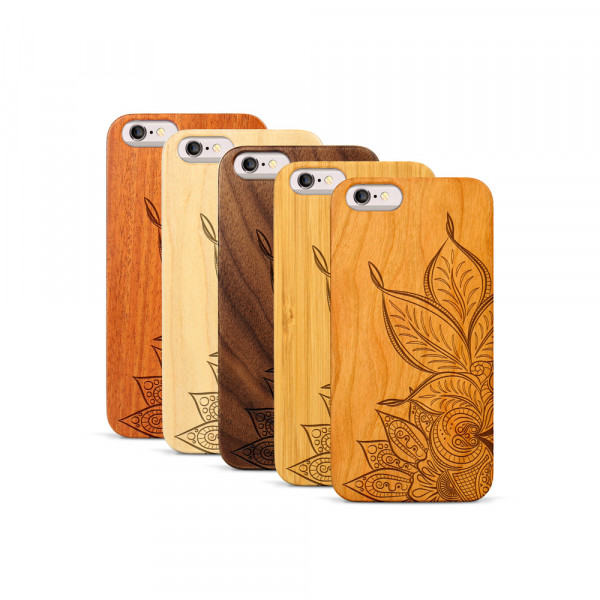 iPhone 6 & 6S Hülle Mandala aus Holz
