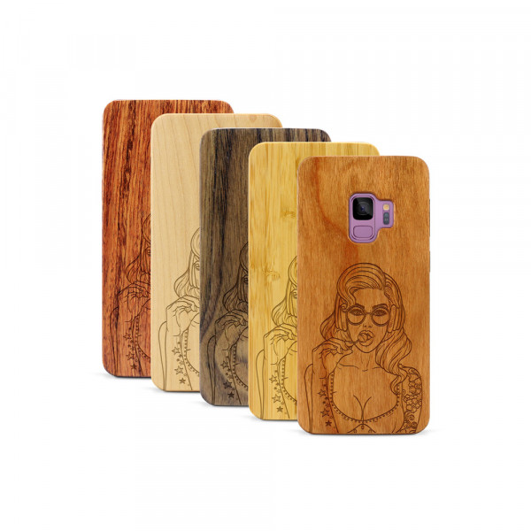 Galaxy S9 Hülle Lolli Pop Art aus Holz