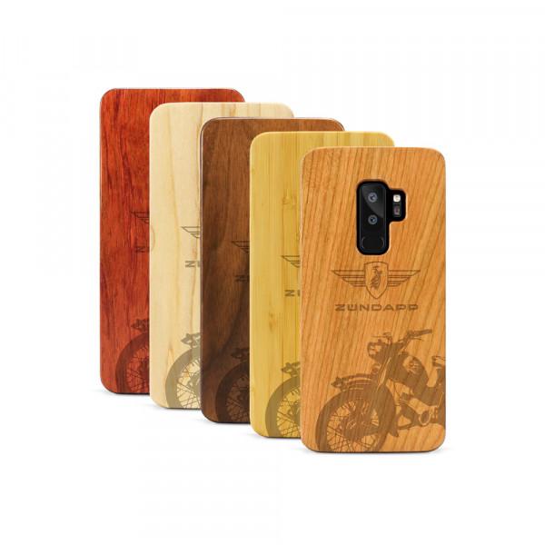 Galaxy S9+ Hülle Zündapp C 50 Super aus Holz