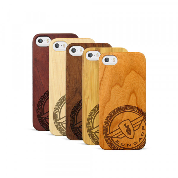iPhone 5, 5S & SE Hülle Zündapp Logo Klassik aus Holz