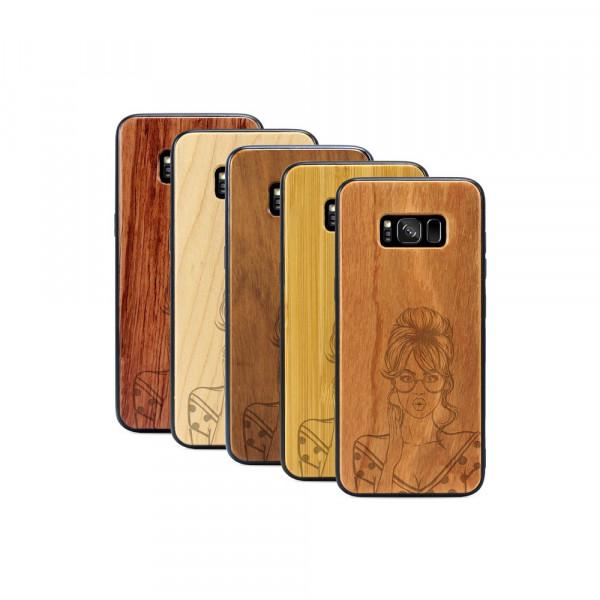 Galaxy S8 Hülle Pop Art - Surprised aus Holz