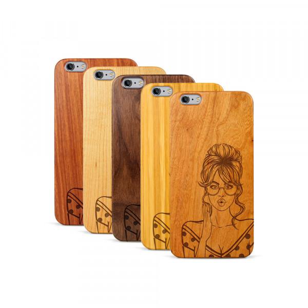 iPhone 6 & 6S Plus Hülle Pop Art - Surprised aus Holz
