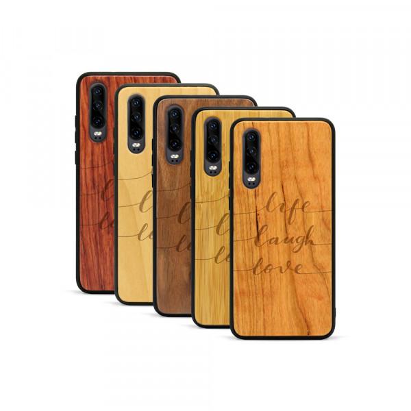 P30 Hülle Life Laugh Love aus Holz