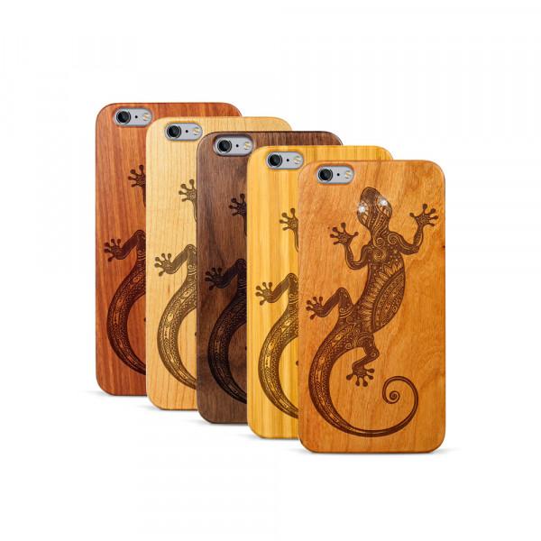 iPhone 6 & 6S Plus Hülle Gecko Swarovski® Kristalle aus Holz