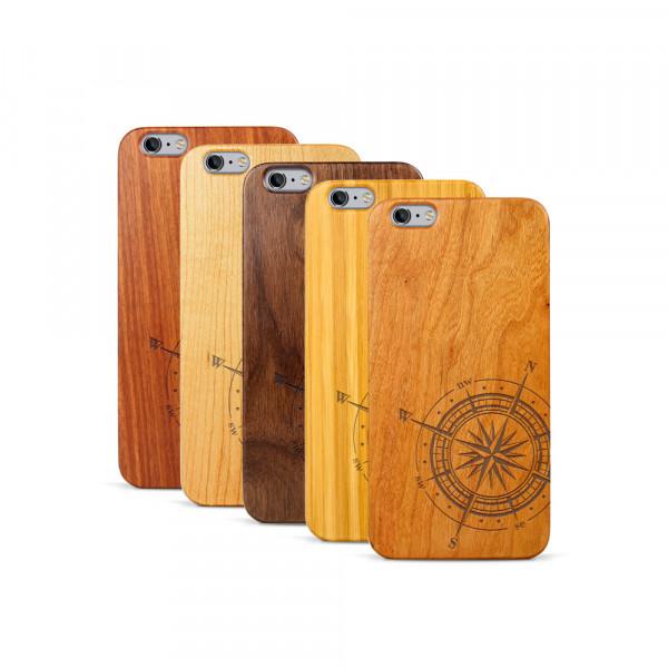 iPhone 6 & 6S Plus Hülle Kompass aus Holz