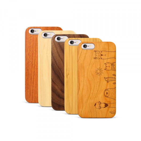 iPhone 6 & 6S Hülle Animal Friends aus Holz