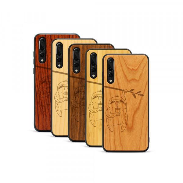 P20 Pro Hülle Faultier aus Holz
