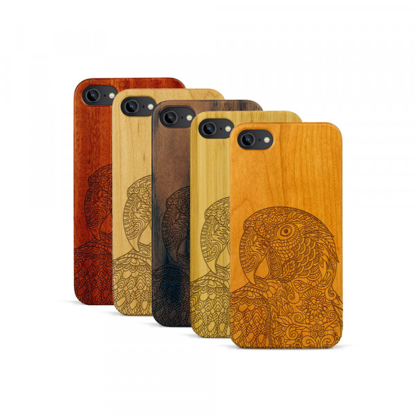 iPhone 7 Hülle Papagei aus Holz
