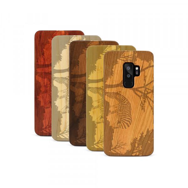 Galaxy S9+ Hülle Wildlife Zebra aus Holz