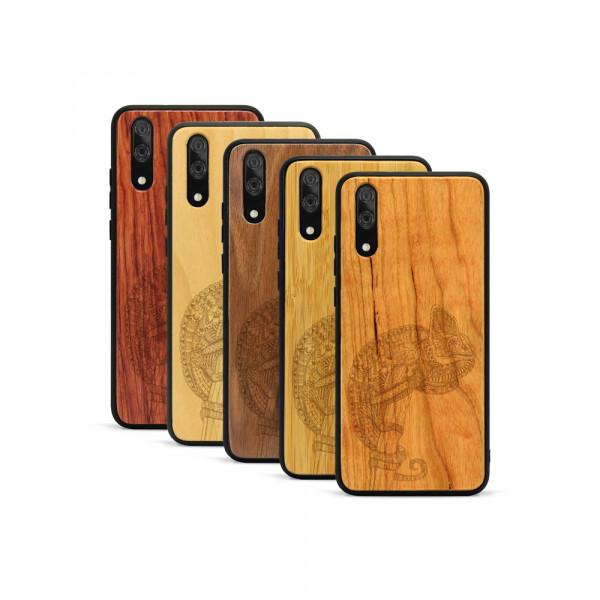 P20 Hülle Chamäleon aus Holz