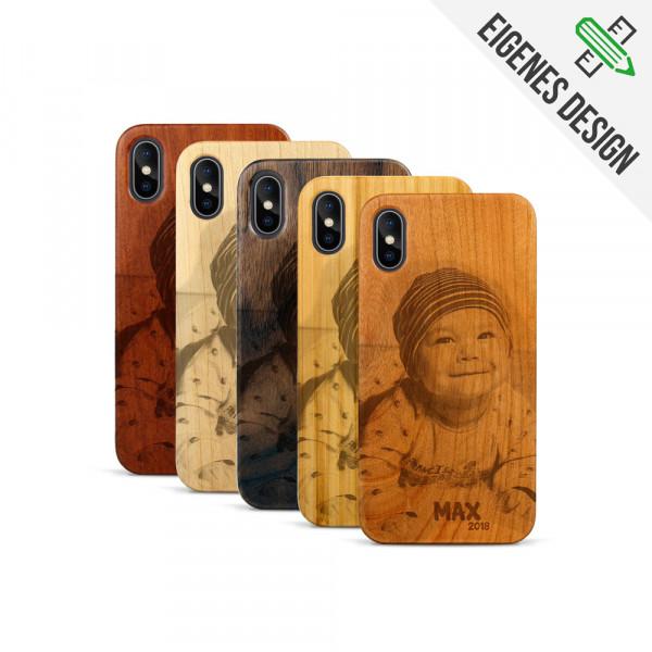 iPhone X & XS Hülle aus Holz selber gestalten mit individueller Gravur