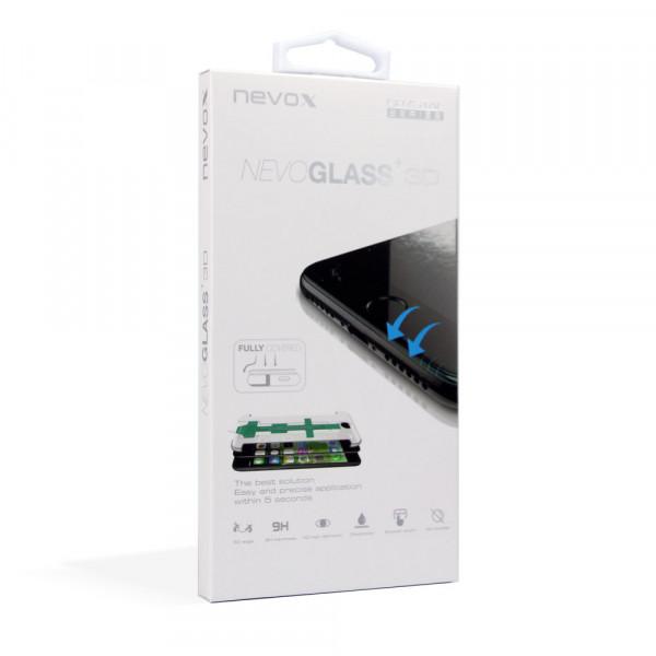 """Nevox NEVOGLASS 3D iPhone 8 & SE (4.7"""") Curved Glass mit Easy App"""