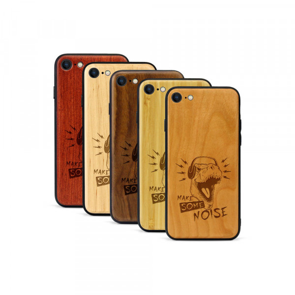 iPhone 8 & SE Hülle T-Rex aus Holz