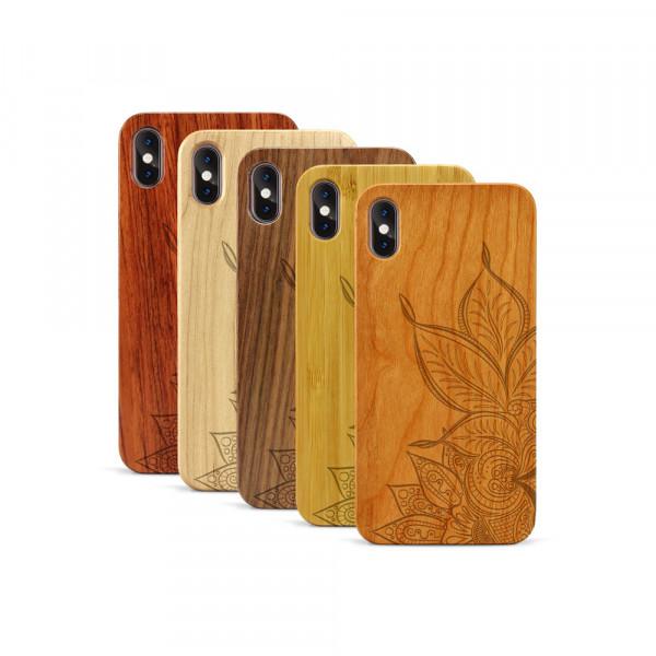 iPhone XS Max Hülle Mandala aus Holz