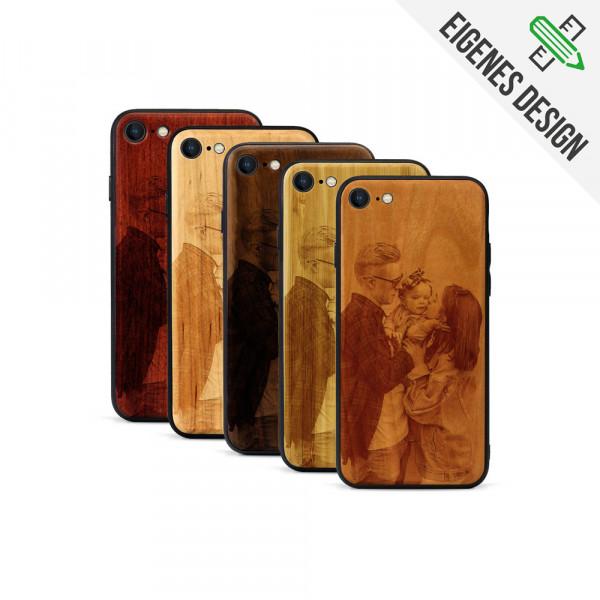 iPhone 8 & SE Hülle aus Holz selber gestalten mit individueller Gravur