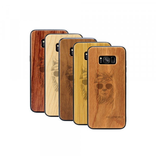 Galaxy S8+ Hülle Llama aus Holz