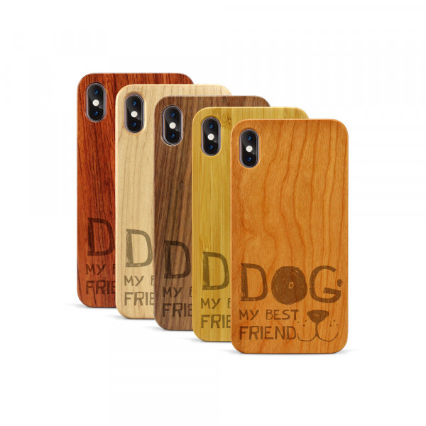 iPhone XS Max Hülle Dog best friend aus Holz