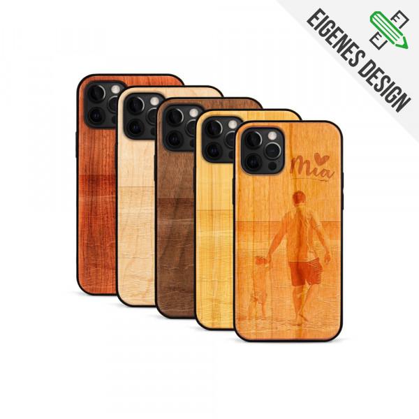iPhone 12 Pro Max Hülle aus Holz selber gestalten mit individueller Gravur